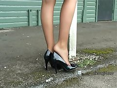 Walking with a lady who wears high heels is always a sexual experience, and with Claire in her...