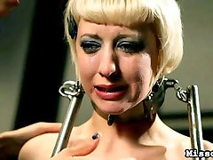 Cherry Torn once again presents herself to Domina MISSogyny for punishment and slave teaching, and the Mistress rembers Cherrys nimble body and juicy ass and is eager to once again inflict penalty and torture of this willing and antsy servant slut.