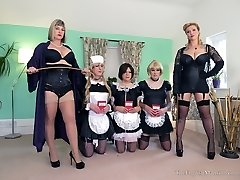 Disciplined Maids All In A Row Pt1
