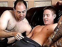 Gay bear hunks choking on meat stick