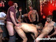 The Feisty Slut Everett Jagger is go-go dancing for a crowd of horny men. The men tip Everett...