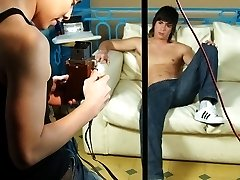 Hot twink hunk unzips his pants posing for the cam