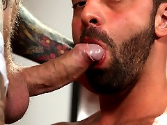 If you like your men hung, uncut, and hairy, you're in for a treat. Especially as it concerns a handsome and always horny man that will make you feel like you're in sex pig heaven! Say hello to Fabio Stallone, who couldn't wait to slide his thick tool into yet another hung and sexy man, Harley Everett. Though Harley mostly tops on film, he was more than up for Fabio riding his ass. And once he gets full into it, the greedy muscle bottom took one hell of a slam, slurping dow