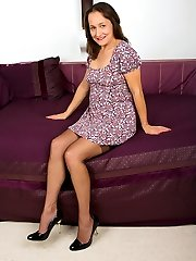 Heres our naughty MILF Carla again! Check her out, teasing and pleasing in gorgous coffee...