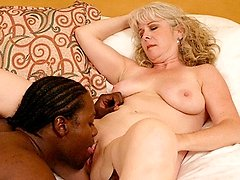 Hot MILF gets pussy banged by a black hunk