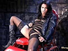 Naughty Malena poses and spreads