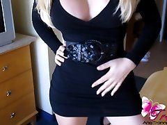 Hot blonde tranny with a beautiful body