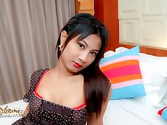 See emotionless young ladyboy whore get fucked