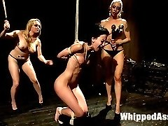 Welcome back the tough and beautiful Elisa Graves to WhippedAss.com! Lorelei Lee and Aiden Starr...
