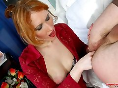 Strap-on armed chick is a real pro in sissy guy�s ass ramming and pumping