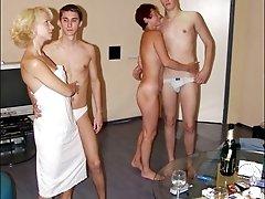 After sauna swinger sex