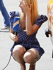 Mini skirt girls dont see our hunter