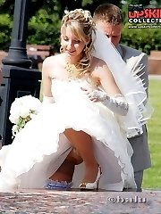 Very steamy bride upskirt pics
