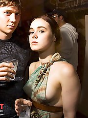 Down blouse voyeur with hot upskirt