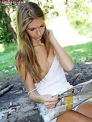 Down blouse slip from lewd amateurs