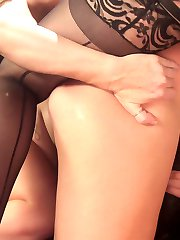 19 year old Melissa May meets hot pervy MILF Simone Sonay in a crowded bar to sell her dirty...