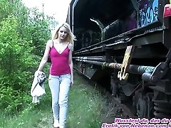 german bony amateur teen public anal with homeless guy
