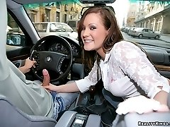 Hot caroline and her amazing ass and tits gets fucked hard after some driving lessons turned bad