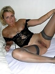 Ladies who love wearing stockings shots