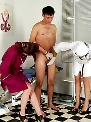 Fear and excitement of a pegged medical slave