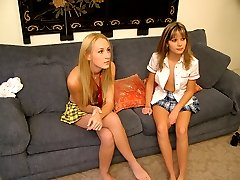Two 18 year old European hotties decide to cheat on their boyfriends with their first lesbian...