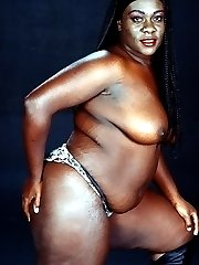 Fat Dirty Black Slut Posing Ass and Boobs