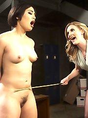 Sadistic lesbian detective Mona Wales, trains hot new detective deputy, Milcah Halili, in the...
