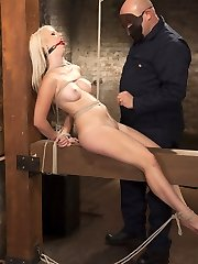 HogTied brings you the hottest babes first - All natural big tit blonde babe tied, spanked,...