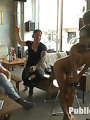 Perky young Lullu Gun is a pretty little exhibitionist whore and Julliette March gets her fully...