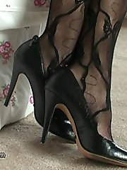 When a man has a fetish for ladies shoes the intensity of his passion is always expressed by his...