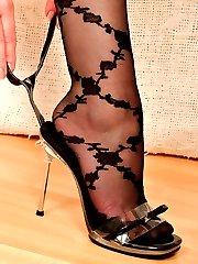 Angel in black pattern Stockings