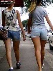 Best cameltoe of tiny shorts girl