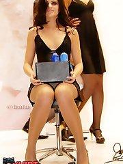Upskirt panties of hot models