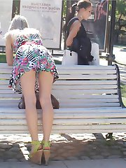 Upskirt panties of young hot girls