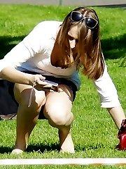 Sexy summer dress upskirt photos