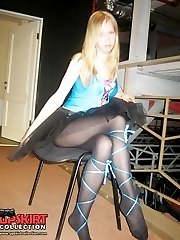 The hottest of pantyhose upskirts