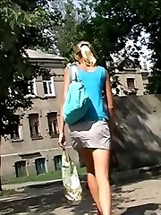 One public upskirt was caught on bus stop