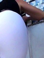 Hot girls upskirt in public transport