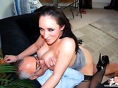 Thick slut fucked by senior