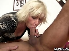 A cock-hungry old bitch samples the delicious dick that belongs to her daughter!