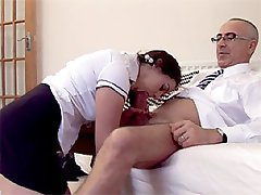 British girl riding a cock