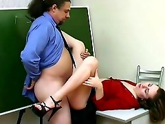 She gives her teacher a blowjob and he gives her pussy the hard fucking she craves so badly.