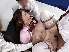 Insane Japanese chick in Amazing BDSM, Creampie JAV movie