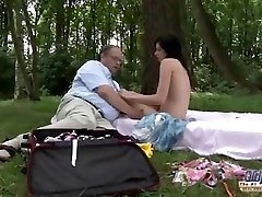 OLD YOUNG Romantic Fuck-fest Between Fat Old Boy and Beautiful Teen Woman