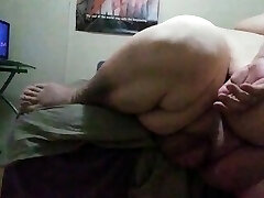 Ssbhm wanking on the edge of the bed