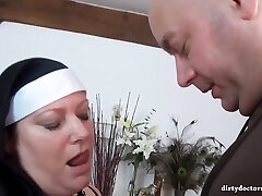 Naughty nuns are about to have a real dark-hued practice, until everyone gets completely satisfied