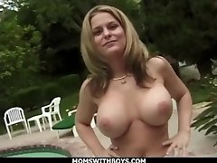MomsWithBoys - Big Tit Blonde Milf Fucking Outdoors For Fun