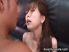 Molten and cool asian secretary blows rigid part4