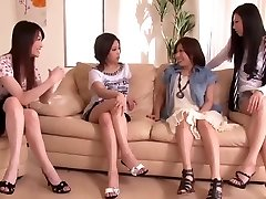 Japanese Manstick Shared by Group of Horny Women 1