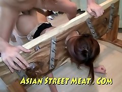 Chinese Sweety Sodomised In Stockings And Stocks